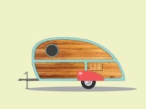 Teardrop Camper by Annie Bailey Art