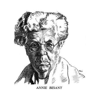 Annie Besant, British Socialist and Theosophist, 1926- Brill-Giclee Print