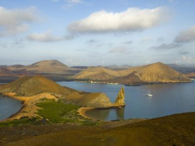 Boat Anchored Offshore of One of the Galapagos Islands