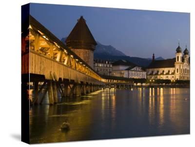 Kappelbrucke or Chapel Bridge, Europe's Oldest Covered Wooden Bridge