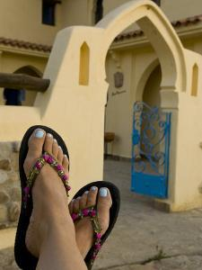 Painted Toes at a Countryside Hotel Outside the City of Chefchaouen by Annie Griffiths Belt