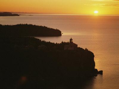 Split Rock Lighthouse Overlooks Lake Superior in Minnesota