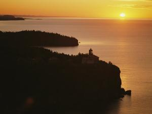 Split Rock Lighthouse Overlooks Lake Superior in Minnesota by Annie Griffiths Belt