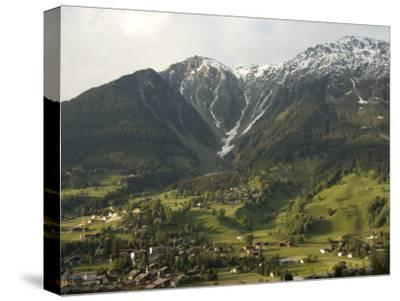 Towns and Chalets Dot the Landscape Near Davos