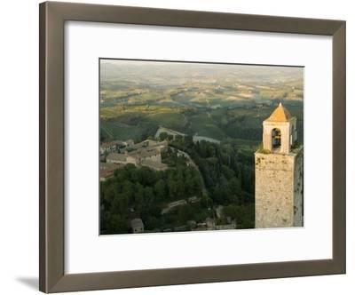 View of the Tuscan Landscape from the Torre Del Mangia in Siena
