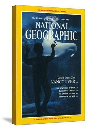 Cover of the April, 1992 National Geographic Magazine