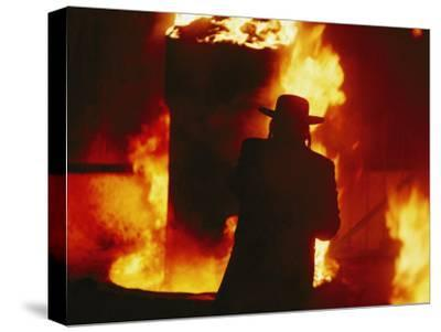 Hasidic Jews Celebrate Lag B-Omer with a Traditional Bonfire