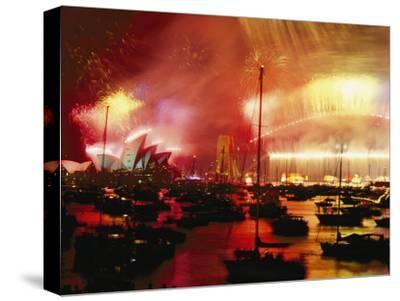 Sydney Harbour Explodes with Light and Sound During the 2000 New Years Celebration