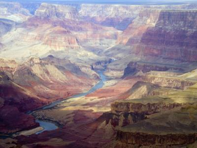 The Colorado River and the Grand Canyon from the South Rim