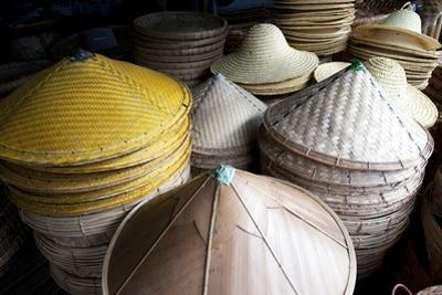 Burmese Hats Hand Made from Bamboo Leaves and Grasses, Myanmar (Burma)