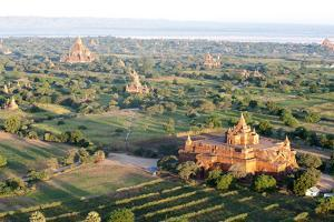 Early Morning Sunshine over the Terracotta Temples of Bagan, Myanmar (Burma) by Annie Owen