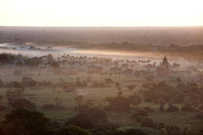 Mists from the Nearby Irrawaddy River Floating across Bagan (Pagan), Myanmar (Burma)