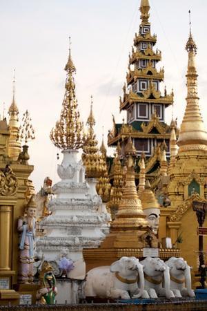 Shrines and Pagodas at Shwedagon Pagoda, Yangon