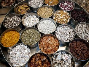 Various Types of Sonf, Mouth Freshener, Sonf Stall in Market, Kolkata, West Bengal, India by Annie Owen
