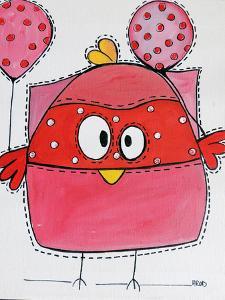 Pink Birdz 1 by Annie Rodrigue