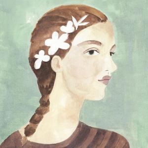 Folk Art Portrait I by Annie Warren