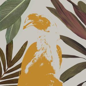 Graphic Tropical Bird II by Annie Warren