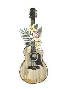 Guitar Foliage I by Annie Warren
