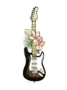 Guitar Foliage II by Annie Warren