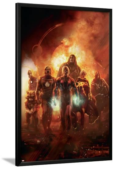 Annihilation: Conquest No.6 Cover: Adam Warlock, Quasar, Star-Lord and Ronan The Accuser--Lamina Framed Poster