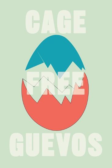 Annimo Cage Free Guevos--Art Print