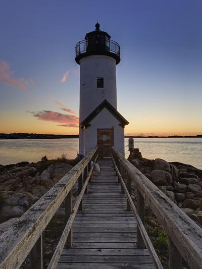 Annisquam Lighthouse at Sunset, Wigwam Point, Ipswitch Bay, Near Gloucester, Massachusetts-Adam Jones-Photographic Print