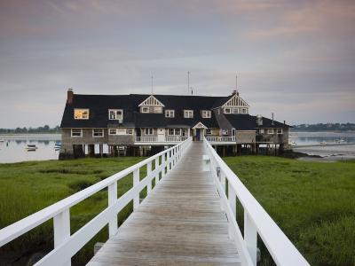 Annisquam Yacht Club, Gloucester, Cape Ann, Massachusetts, USA-Walter Bibikow-Photographic Print