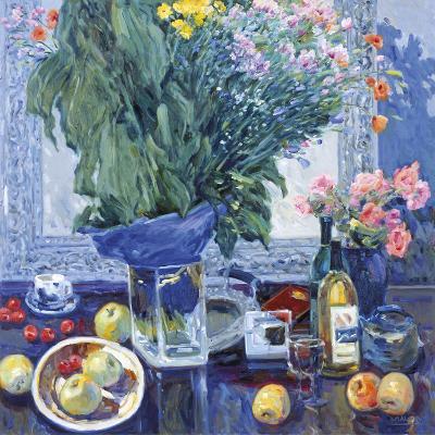 Anniversary Flowers-Malva-Giclee Print