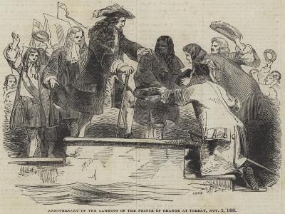 Anniversary of the Landing of the Prince of Orange at Torbay, 5 November 1688-Sir John Gilbert-Giclee Print