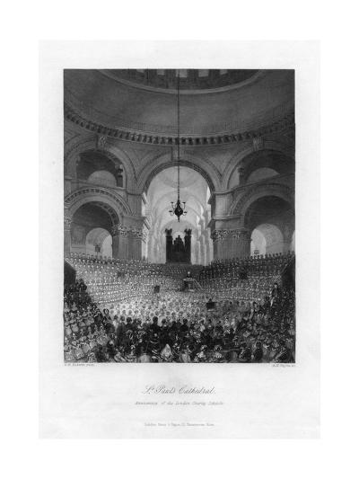 Anniversary of the London Charity Schools, St Paul's Cathedral, London, 19th Century-AH Payne-Giclee Print