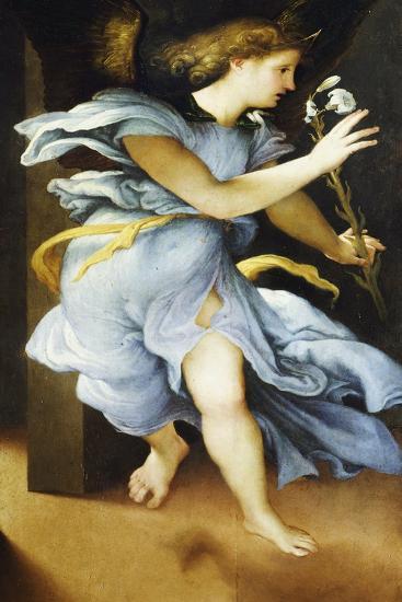 Announcing Angel, Circa 1525-Lorenzo Lotto-Giclee Print