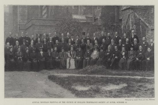 Annual Diocesan Festival of the Church of England Temperance Society at Dover, 17 October--Giclee Print