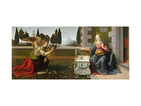 Annunciation, 1472-75-Leonardo da Vinci-Premium Giclee Print