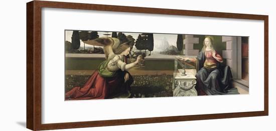 Annunciation, 1472-75-Leonardo da Vinci-Framed Giclee Print