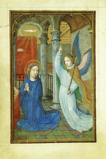 Annunciation, 1520's-Simon Bening-Giclee Print