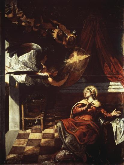Annunciation, 1582-1587-Jacopo Robusti-Giclee Print