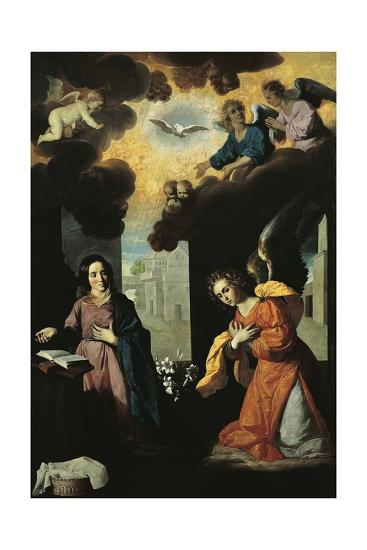 Annunciation, 1638-Francisco de Zurbaran-Premium Giclee Print