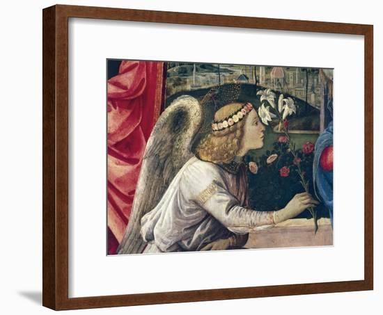 Annunciation and Saints-Filippino Lippi-Framed Giclee Print