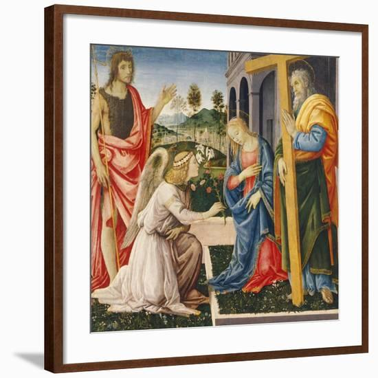 Annunciation and Saints-Filippino Lippi-Framed Giclee Print