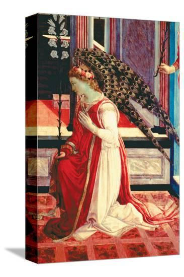Annunciation, c.1457-Filippino Lippi-Stretched Canvas Print