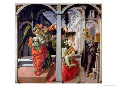 Annunciation, circa 1445-Fra Filippo Lippi-Giclee Print