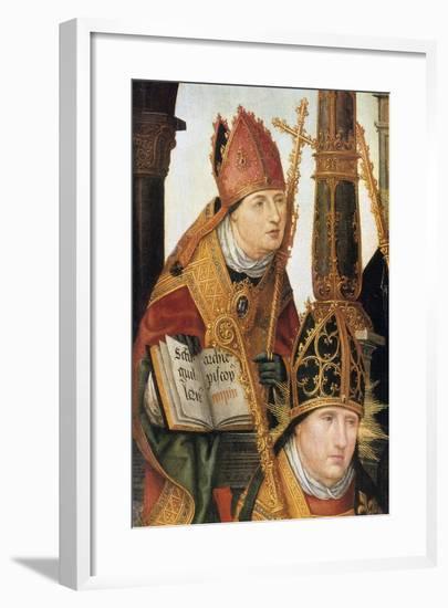 Annunciation (Detail), 1516-1517-Jean Bellegambe-Framed Giclee Print