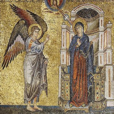 Annunciation, Detail of Coronation of Virgin and Stories of Mary-Jacopo Torriti-Giclee Print