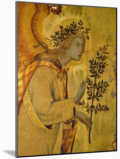 Annunciation, Detail of Gabriel-Simone Martini-Mounted Premium Giclee Print