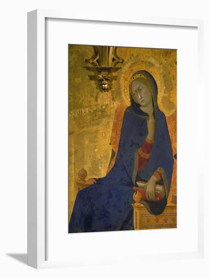 Annunciation, Detail of the Virgin-Simone Martini-Framed Giclee Print