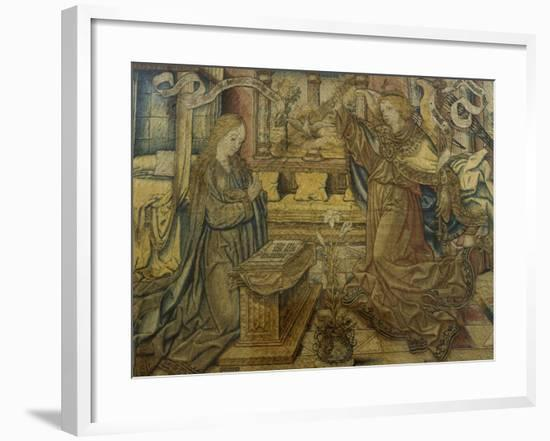 Annunciation Flemish Tapestry--Framed Giclee Print