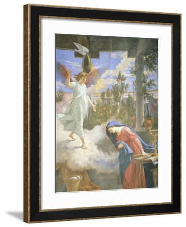 Annunciation, Fresco, 1875-Cesare Mariani-Framed Giclee Print