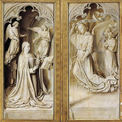 Annunciation in Grisaille--Giclee Print