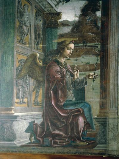 Annunciation, Organ-Shutter Wood in Cathedral of Ferrara-Cosme Tura-Giclee Print