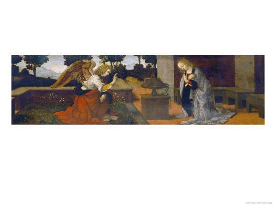 Annunciation, Part of a Predella-Lorenzo di Credi-Giclee Print